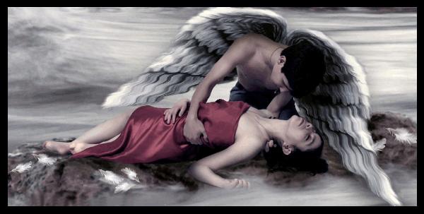 ANGEL Y MUJER DORMIDA GIF